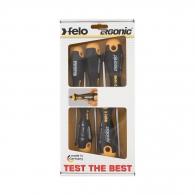 Отвертки комплект FELO Ergonic 5части, удароустойчиви, PH, SB, двукомпонентна дръжка