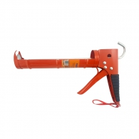 Пистолет за силикон TOPSTRONG, 225мм, оранжев, метален, гумирана дръжка