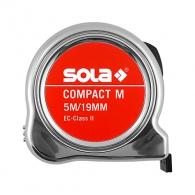 Ролетка SOLA COMPACT M 5м x 19мм, с магнит, хромиран пласмасов корпус, EC-клас 2