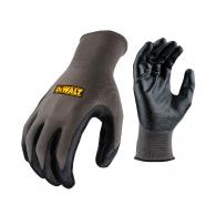 Ръкавици DEWALT DPG66 Gripper, сиви, полиестер, топени в нитрил, ластичен маншет