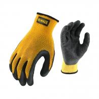 Ръкавици DEWALT DPG70 Gripper, жълти, безшевни, 60%-полиестер и 40%-памик, каучуковото покритие