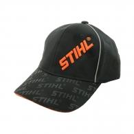 Шапка с козирка STIHL, черна, с голямо оранжево бродирано лого
