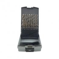 Свредла ABRABORO 1.0-10мм 19части, за метал, HSS-Co 5%-кобалт, цилиндрична опашка, ъгъл 135°