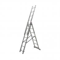 Алуминиевa стълба KRAUSE CORDA 3х7, 2950/3750/5100мм, трираменна, професионална, 150кг.
