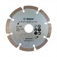 Диск диамантен BOSCH 115x1.7x22.23мм, за бетон, гранит, тухла и естествен камък, сухо рязане