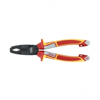 Клещи за заголване на кабели FELO 0.5-10кв.мм/180мм, CS, двукомпонентна дръжка, 1000V