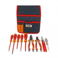 Комплект инструменти FELO S413 9части, отвертки, клещи, 1000V, в калъф