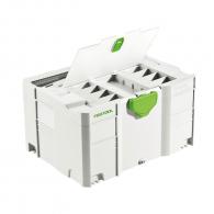 Куфар за инструменти FESTOOL SYS 3 TL-DF, пластмаса, бял
