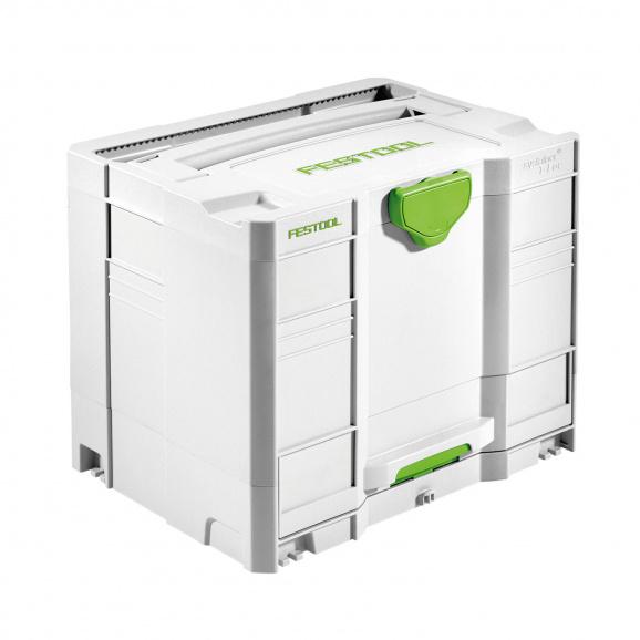 Куфар за инструменти FESTOOL SYS Combi 3, пластмаса, бял