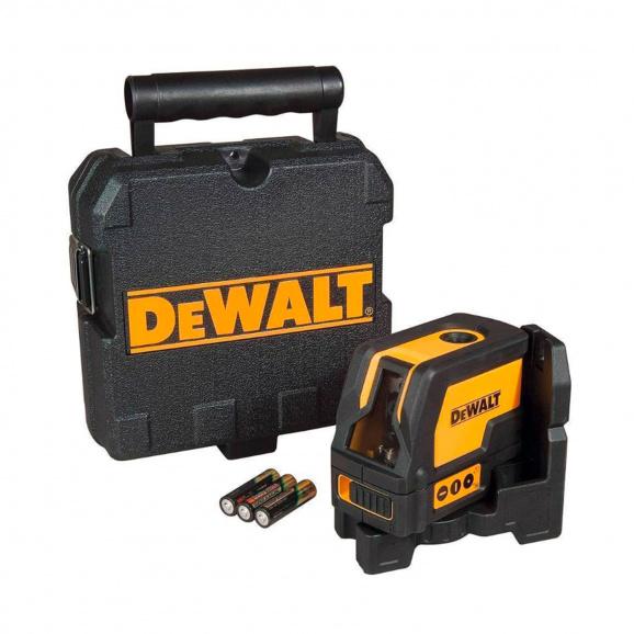 Линеен лазерен нивелир DEWALT DW0822, 2 лазерни линии, точност 3mm/10m, 15м, автоматично