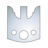 Нож профилен CMT 98, 40х4мм, инструментална стомана, к-кт 2бр.