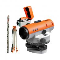 Оптичен нивелир NEDO F32, увеличение 32x, стандартно отклонение 1.5мм/км