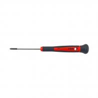Отвертка кръстата за електроника FELO S242 PH0 3.0x150/60мм, CrV-Mo, двукомпонентна дръжка