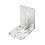 Планка монтажен ъгъл оребрена VALENTA 100x90x100x3.0мм, усилена, поцинкована, 10бр. в опаковка