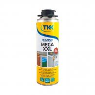 Полиуретанова пяна TKK Tekapur Mini Mega XXL, 560мл, пистолетна, всесезонна (над -5°C)