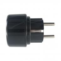 Преход BRENNENSTUHL 15A, 250V, 20IP, черен, пластмаса, от американски и японски към шуко стандарт