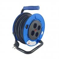 Удължител на макара TAYG 25м, 3х1.5, H05VV-F, 4 монофазни контакта, IP55
