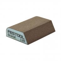 Абразивна гъба FESTOOL GR 98х69х26мм P120, четиристранна, за метал, дърво, пластмаси и боядисани изделия