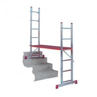Алуминиевa стълба - скеле KRAUSE CORDA 2х6, 2045/3000/4005мм, многофукционална, професионална, 150кг.