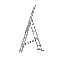 Алуминиевa стълба KRAUSE CORDA 3х9, 3500/4550/6200мм, трираменна, професионална, 150кг.
