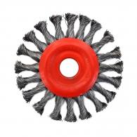 Четкa дисковa SIT ф125мм/М14, за ъглошлайф, стоманена, усукана тел