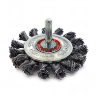 Четкa дисковa SIT ф70мм/М14, за бормашина, стоманена, усукана тел, с опашка 6мм