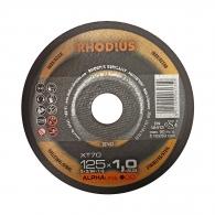 Диск карбофлексов RHODIUS ALPHAline XT70 125x1.0x22.23мм, за рязане на неръждаема стомана