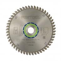 Диск с твърдосплавни пластини FESTOOL 160/2.2/20 Z=52, за рязане на алуминий, месинг, медни сплави, пластмаса, меламин и др.