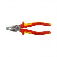 Клещи комбинирани KNIPEX 180мм, ф2.2/3.4мм, ф12мм/16мм2, CS, двукомпонентна дръжка, 1000V