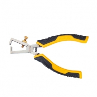 Клещи за заголване на кабели STANLEY 0.5-10кв.мм/150мм, регулиращ винт, CS, двукомпонентна дръжка