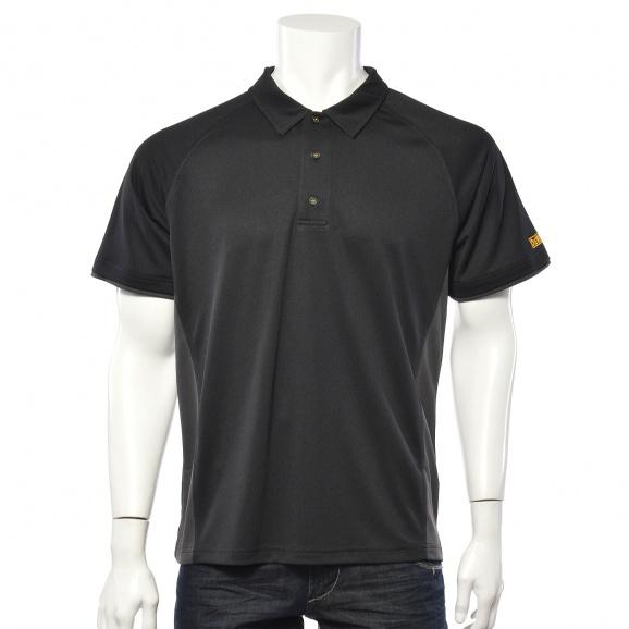 Тениска с къс ръкав и яка DEWALT PWS Polo Shirt Black/Grey M, сиво/черна