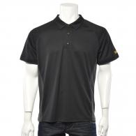 Тениска с къс ръкав и яка DEWALT PWS Polo Shirt Black/Grey L, сиво/черна