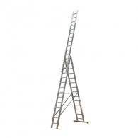 Алуминиевa стълба KRAUSE Tribilo 3х14, 3950/6850/10250мм, трираменна, професионална, 150кг.