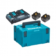 Батерия акумулаторна MAKITA BL1850Bx2 + DC18RD, 18V, 5.0Ah, Li-Ion, к-кт