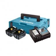 Батерия акумулаторна MAKITA BL1860Bx2 + DC18RC с куфар, 18V, 6.0Ah, Li-Ion, к-кт