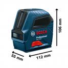 Линеен лазерен нивелир BOSCH GLL 2-10 Professional, 2 лазерни линии, точност 3mm/10m, автоматично - small, 104109