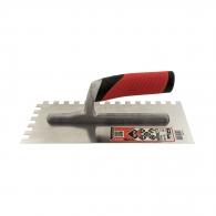 Маламашка за лепило RUBI 10х10, 280х120мм, назъбена, неръждаема стомана, пластмасова дръжка