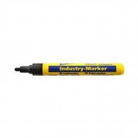 Маркер индустриален BLEISPITZ 4мм/140мм - черен, пълнител с 8мл боя