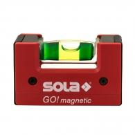 Пластмасов нивелир SOLA Go magnetic 6.8cm, с една либела и магнит