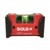 Пластмасов нивелир SOLA Go 7.5cm, с една либела с клипс и магнит
