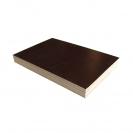 Шперплат ламиниран F1/F2 21х1220х2440мм, бреза, водоустойчив, гладък, черен - small