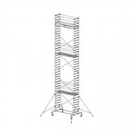 Скеле алуминиево KRAUSE Stabilo H=11.4м, 2000х700мм, 200кг/кв.м, с колела