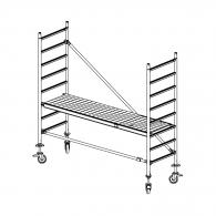 Скеле алуминиево KRAUSE Stabilo H=3.0м, 2000х700мм, 200кг/кв.м, с колела