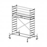 Скеле алуминиево KRAUSE Stabilo H=4.4м, 2000х700мм, 200кг/кв.м, с колела