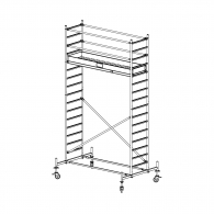 Скеле алуминиево KRAUSE Stabilo H=5.4м, 2000х700мм, 200кг/кв.м, с колела