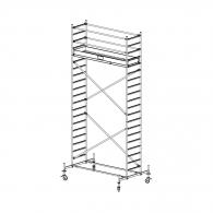 Скеле алуминиево KRAUSE Stabilo H=6.4м, 2000х700мм, 200кг/кв.м, с колела