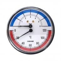 Манометър и термометър CEWAL TRP 80 VI 0-6bar 0-120°, 80мм, 1/2