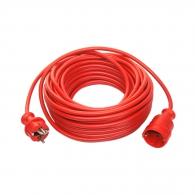 Удължител AS SCHWABE 10м-червен, 3х1.5мм, H05VV-F, 3500W