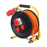 Удължител на макара AS SCHWABE Professional 30м 400V, 5х2.5 H07BQ-F, 1 трифазен и 2 монофазни контакта, IP44
