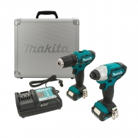 Акумулаторен комплект MAKITA CLX201X (DF331D + TD110D), 10.8V, 1.5Ah, Li-Ion